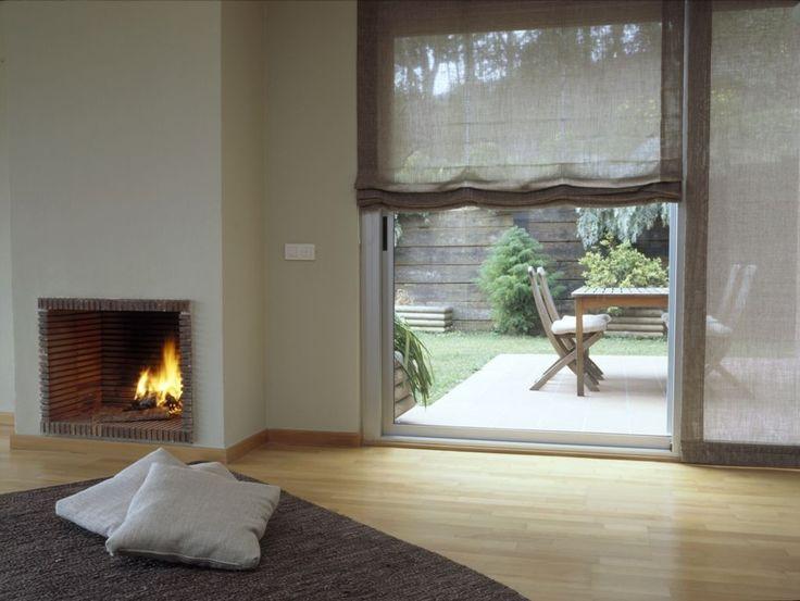 Soft Roman Shades On Sliding Glass Door Combining