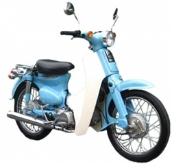 110cc Retro Euro Style Gas Moped Scooter at SaferWholesale.com