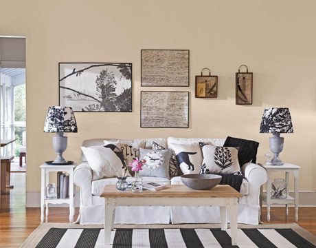 """decorating with """"apartment beige"""" walls: Living Rooms, Black And White, Decorating Ideas, Livingroom, Black White, Room Ideas, Design, Pillows"""