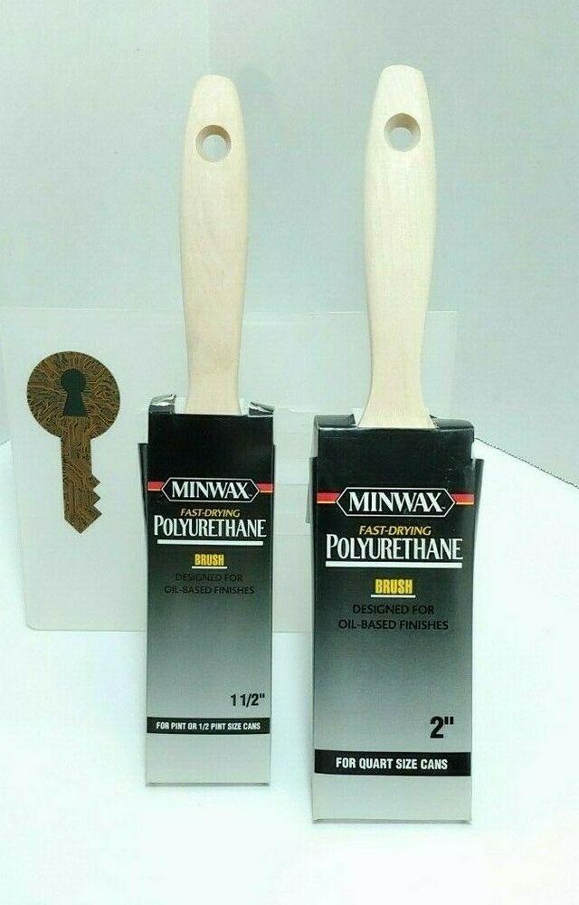 Minwax Polyurethane Bristle Blend Brushes 2 Inch 1 5 Inch New Free Shipping Minwax Wooden Minwax Polyurethane Minwax Polyurethane