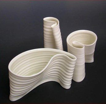 Karen Morgan Porcelain. ~ love the fluidity and free-form function of these ceramic pieces.