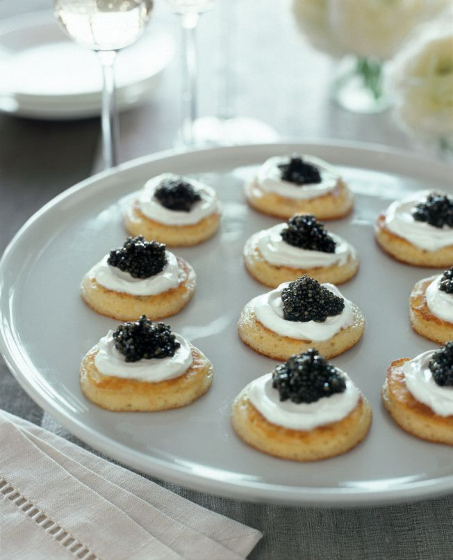 Blini with Caviar & Sour Cream | Williams-Sonoma Taste