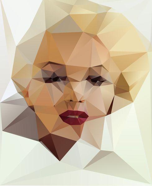 Marilyn Monroe  #Kubisme #society6