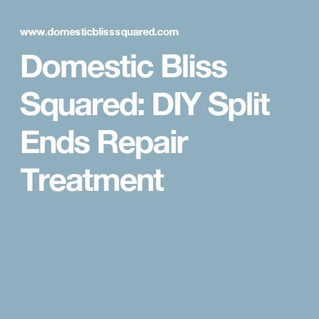 Domestic Bliss Squared: DIY Split Ends Repair Treatment