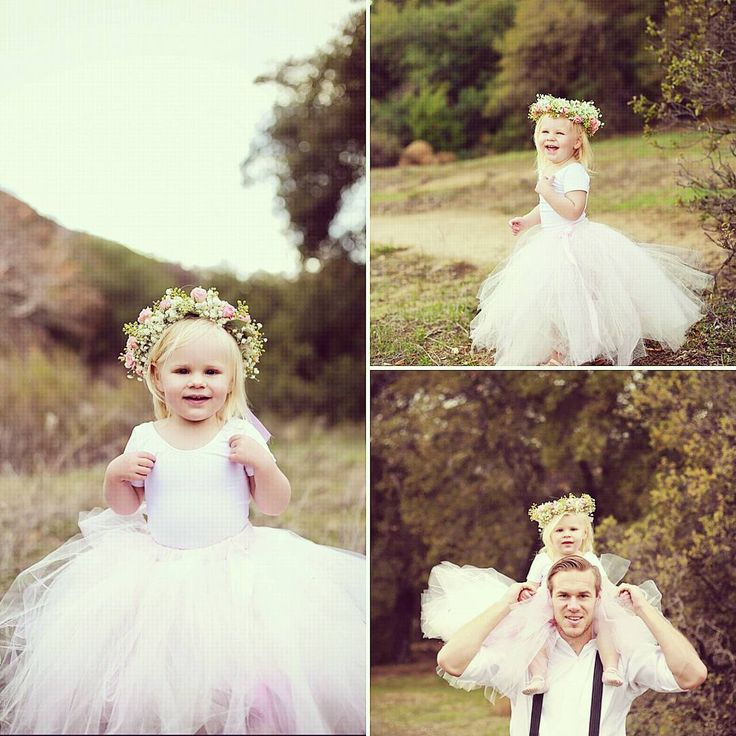 Blush pink tulle skirt with white short sleeve leotard. #princessdoodlebeans #boutique #wedding #flowergirl  tutus and leotards are my favorite and this photo session is tutu sweet!