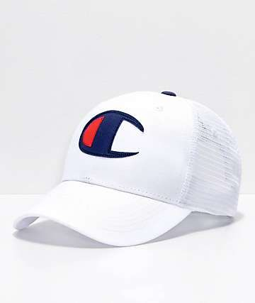 a764edcf25037 Champion Twill Mesh White Dad Hat in 2019