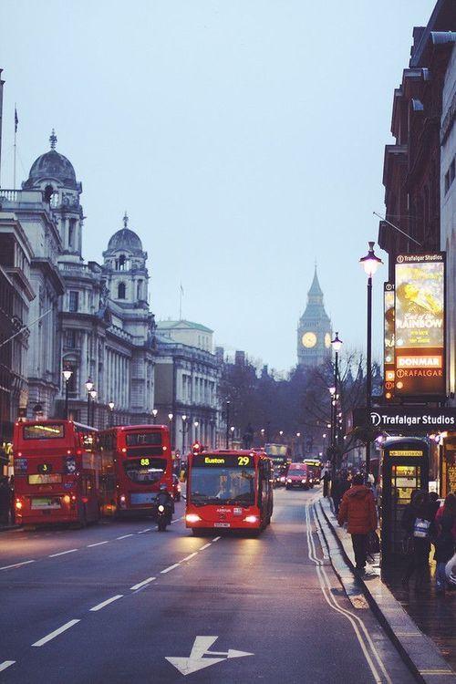 ~ Trafalgar Square. London, England ~