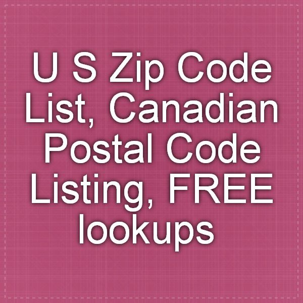 list of us zip codes