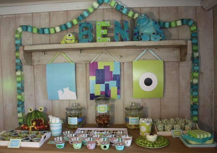 monsters inc Birthday Party Ideas   Photo 1 of 25   Catch My Party