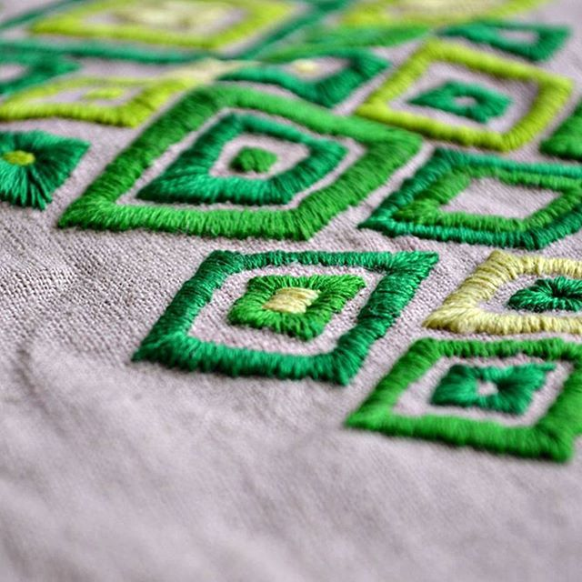 Satin stitch practice    Is it just me or is it really difficult to get satin stitches aligned neatly? I created this practice piece to become more confident with this beautiful stitch.   I realized it does definetly make a difference for straight lines like this to pre stitch the outlines with split stitch or chain stitch first and then do the satin stitch over it.    It's still a matter of practice though to get the satin stitch - I secretly call it satan stitch when it's not doing what it…