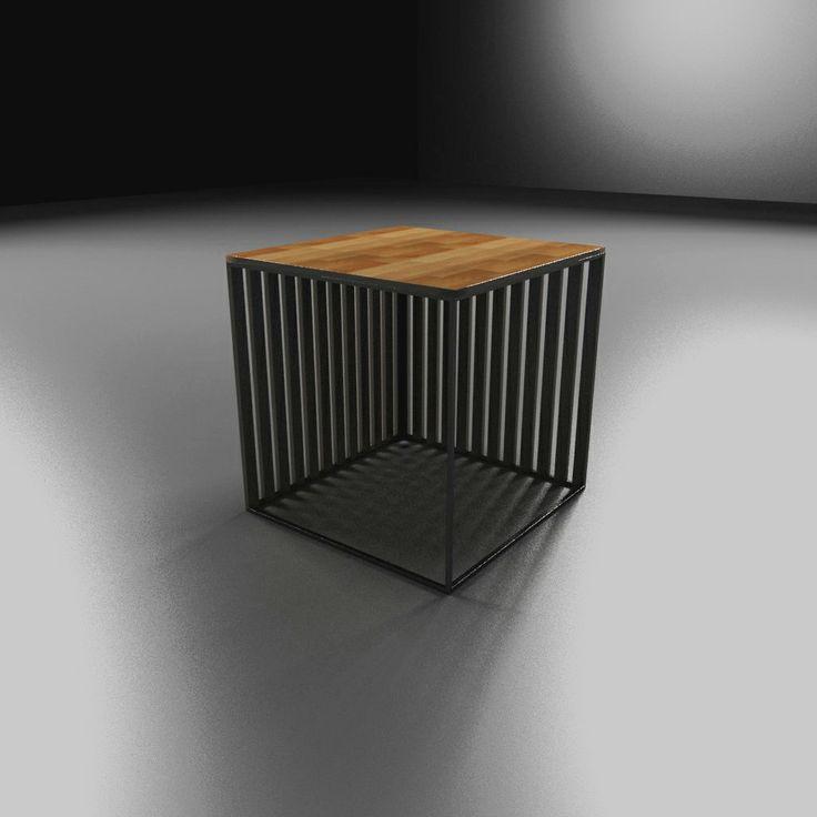 Stool, taboret, iron, metal, wood, drewno, Kraina ES   #stool, #minimalism, #table, #industrial, #designstyle, minimal stool, #krainaes, #handcraft, #craft, #taboret, #stołek, #krzesełko, #krzesło, #minimalizm, #minimal, #ręczniewykonany