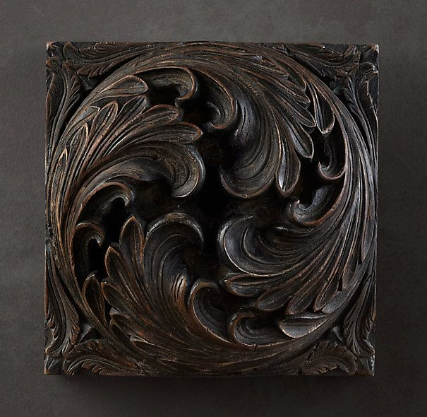 Hand-carved Acanthus Roundel
