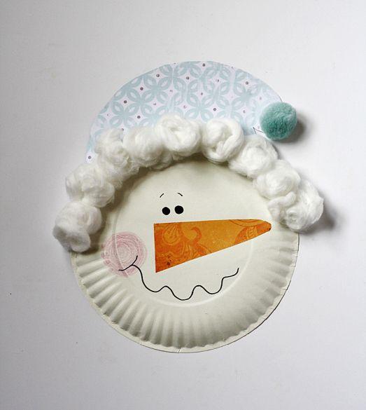 paper plate snowman