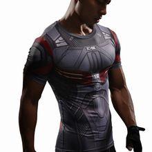 Falcon T Shirt Captain America Civil War Tee 3D Printed T-shirts Men Marvel Avengers 3 Compression Bodybuilding Crossfit tshirt //Price: $US $6.19 & FREE Shipping //