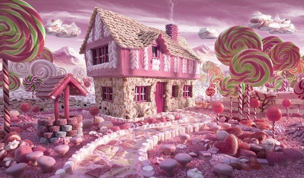 perfect pink life wanna live here... photo by Carl Warner. all are from candies