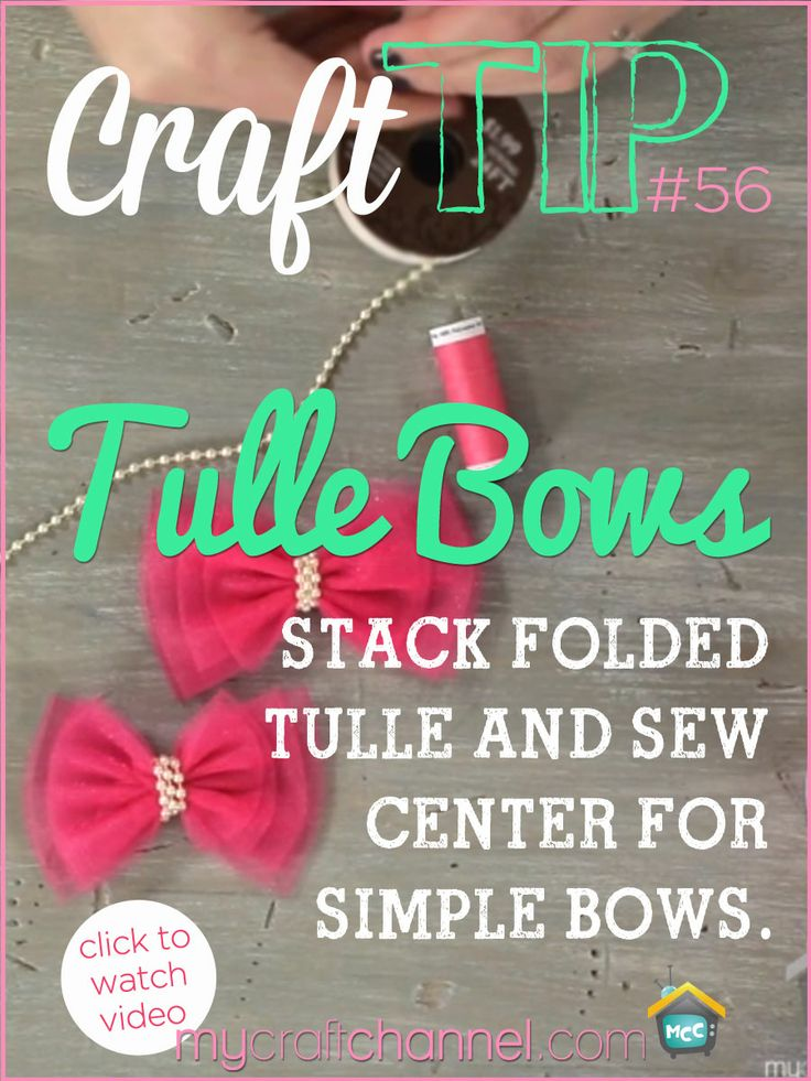 Craft Tips: Quick Tulle Bow Watch Jonie Sumsion as she shows how to create a quick bow out of tulle that you can use on any of your craft projects or for a pretty hairbow.