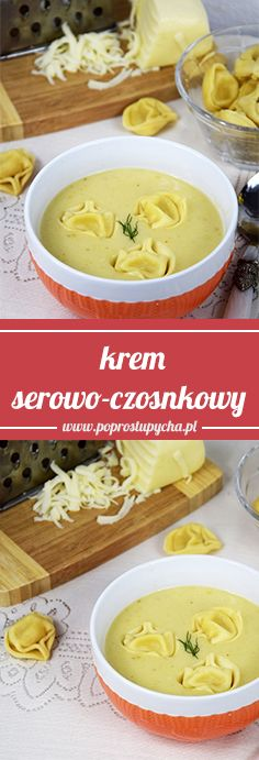 Próbowaliście już kremu serowo-czosnkowego z serowymi tortellini? To bardzo smaczna i sycąca zupka, która powstała całkowicie spontanicznie na bazie tego co aktualnie posiadałam w lodówce. Była pyyyycha :) #poprostupycha #zupa #ser #przepis