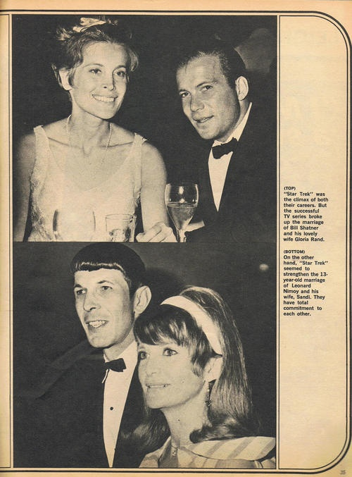 William Shatner and Gloria, Leonard Nimoy with Sandi