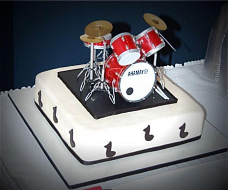 Admirable Terrific Drums Birthday Cake Photos Birthday Cake Blackboots Funny Birthday Cards Online Overcheapnameinfo
