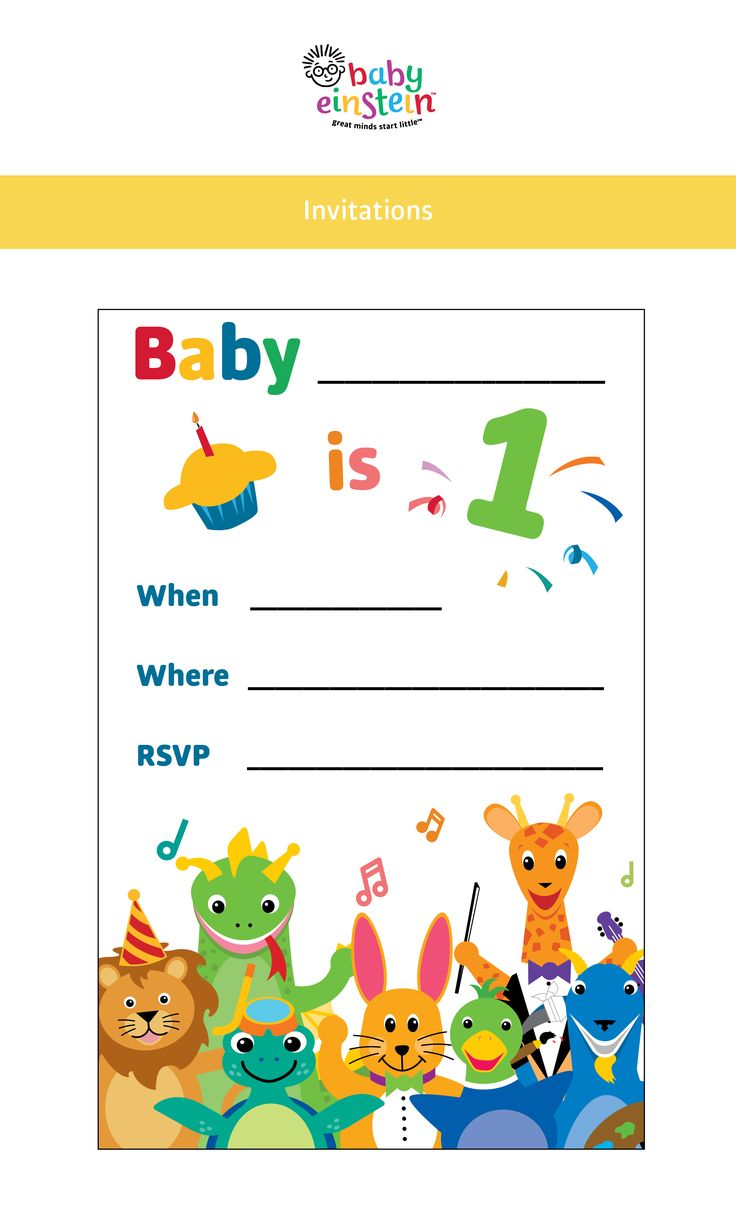Adorable Baby Einstein party invitations! Customize with baby's party details. Get printables now!