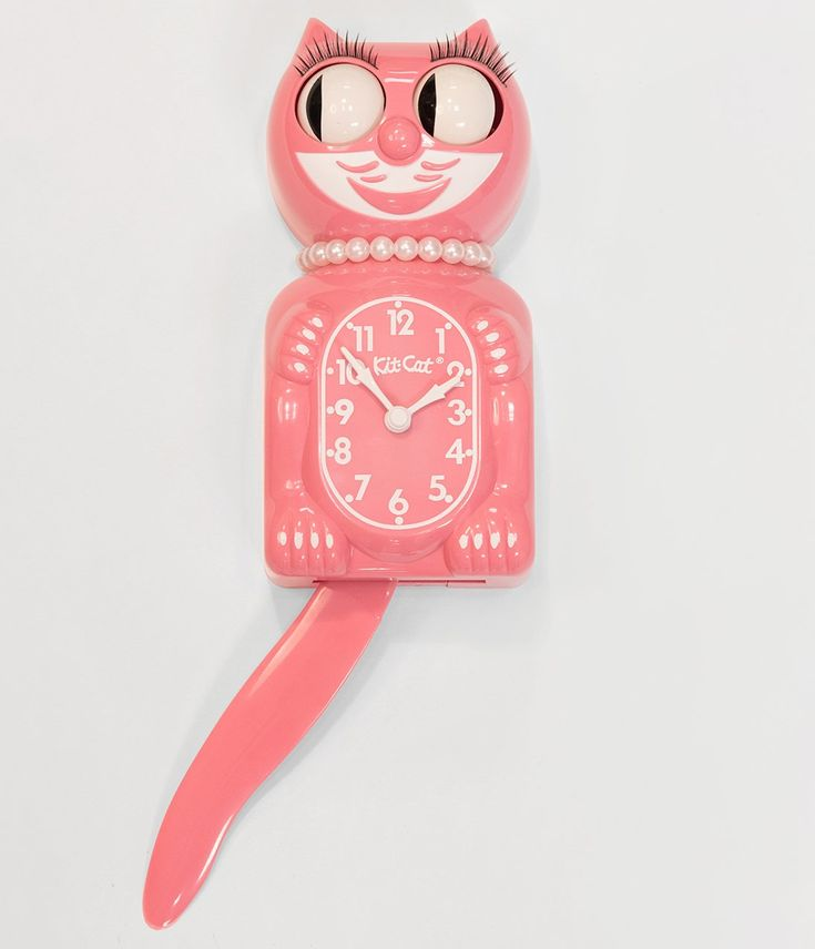 Strawberry Ice Pink Limited Edition Lady Kit Cat Klock