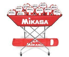 Mikasa BCH-SCA Hammock Ball Cart (Scarlet) by Mikasa. Save 35 Off!. $96.94. Amazon.com                Keep your volleyball practices flowing with the Mikasa BCSPSH ball cart. It provides ample room for storage and transportation of up to 24 volleyballs. Other features include heavy-duty nylon fabric, a sturdy steel frame, and durable rubber wheels. When you're finished with practice, it easily collapses, and it comes with a nylon carrying bag with adjustable shoulder strap for transport....