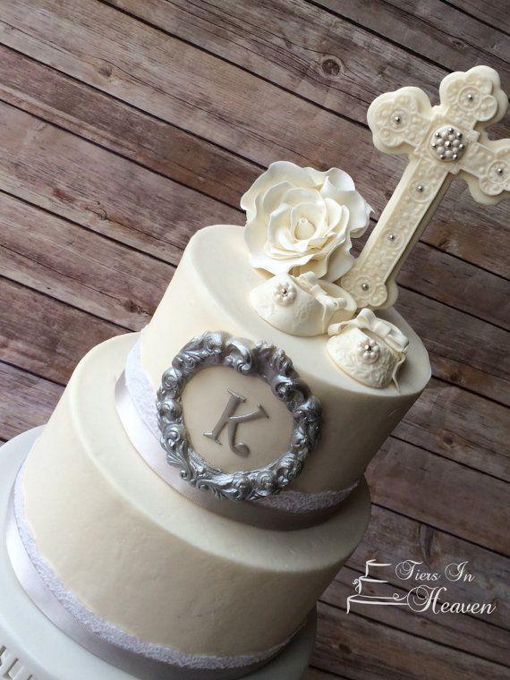 Christening Cake Topper Baby Girl First Birthday Baby