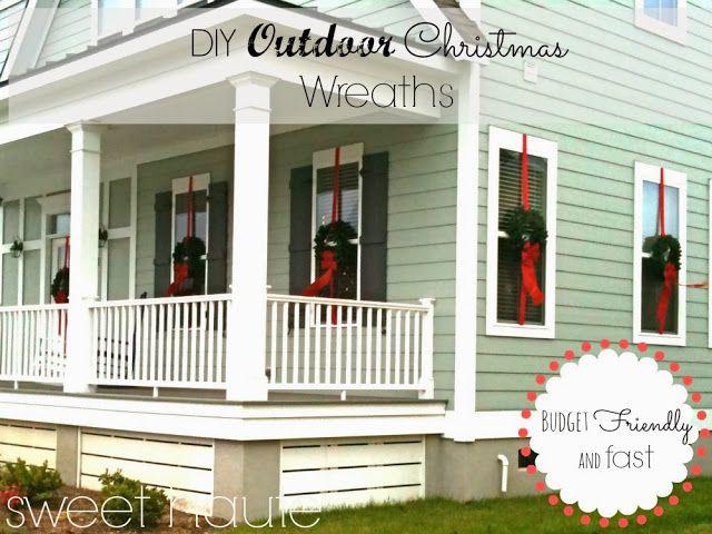Outdoor Christmas Decor, Window Wreaths Tutorial: SWEET HAUTE Blog