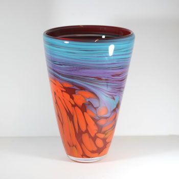 Colourful ricks and swirling sea sinspired this tall vase at £195 - a Unique item found at the WOW Gallery. Dorking