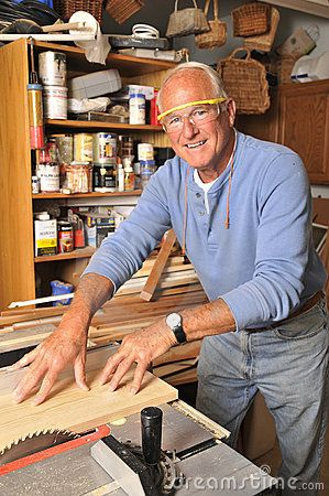 Carpenters construct things such as cabinets, doors, floors, etc. for people who are in need of them.    http://www.dreamstime.com/stock-photography-senior-man-carpenter-working-wood-image20677282