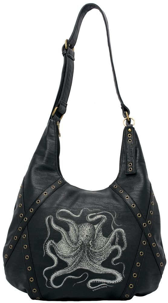 Nautical Octopus Hobo Style Purse by Sourpuss