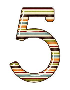 Zahl - Nummer - Number / 5 - Fünf - Five