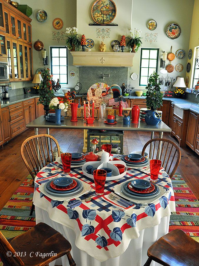 Fiesta® Dinnerware Tabletop Fit For The 4th Of July | The Little Round Table