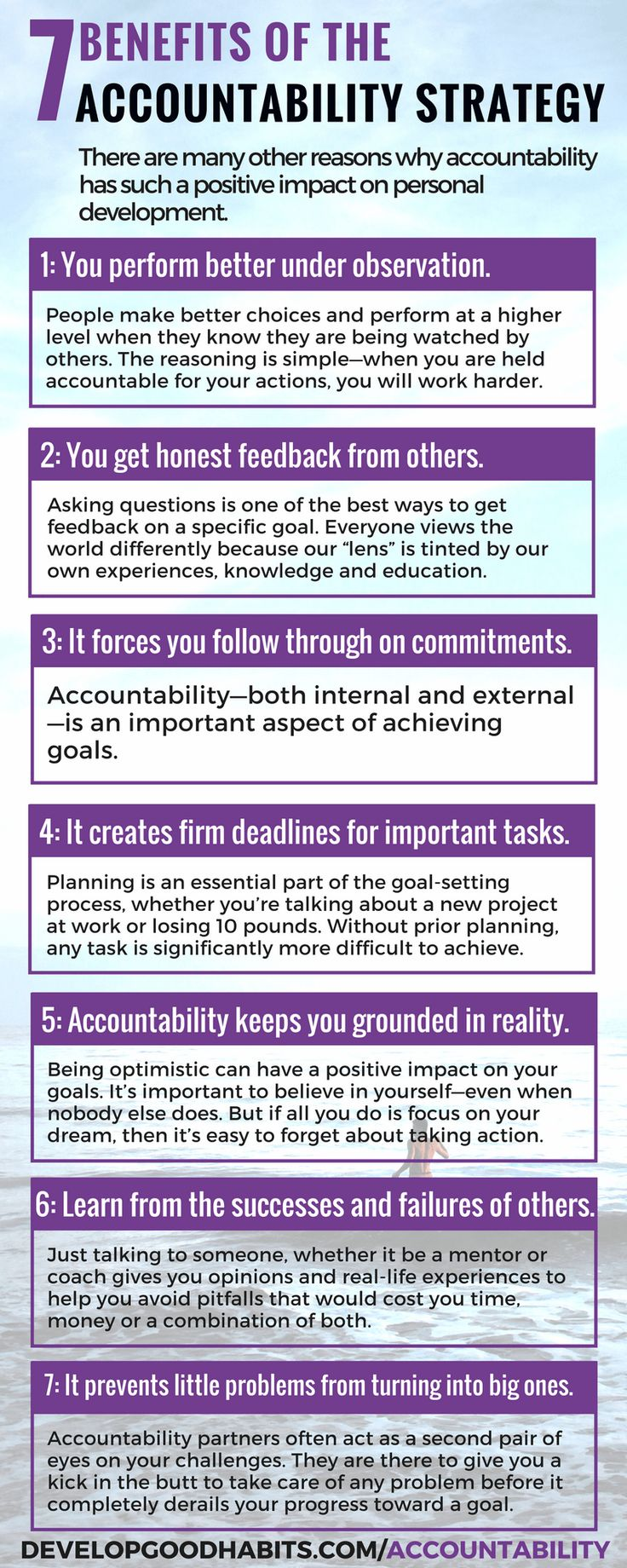 Benefits of increased accountability. How accountability will help you reach your goals.