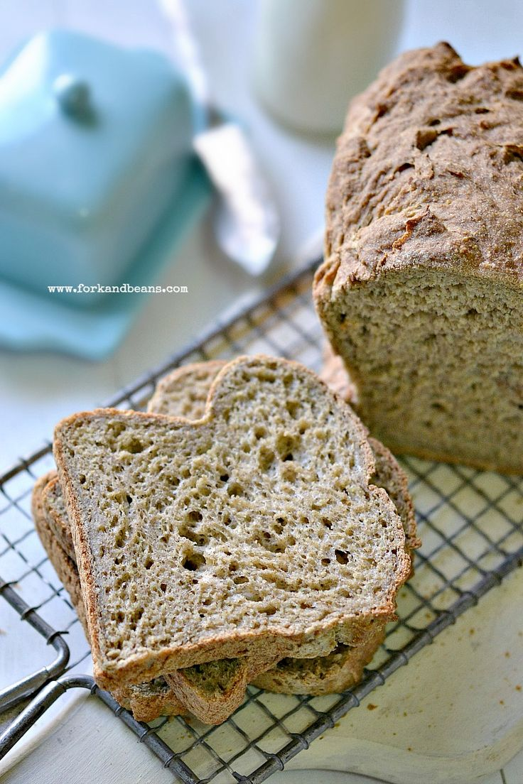 Gluten-Free & Vegan Bread - Fork & Beans-Has millet, oat, and buckwheat flour. A bread with some flavor and healthy ingredients.