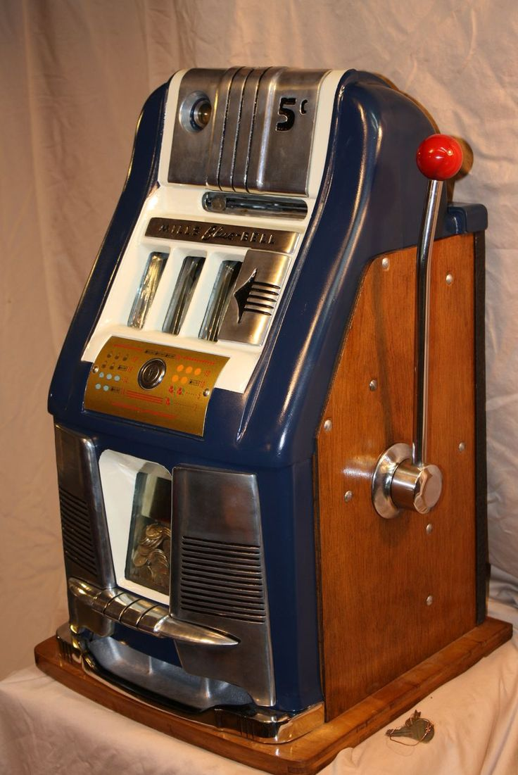 Classic Mills Blue Bell Slot Machine 5¢ Excellent!
