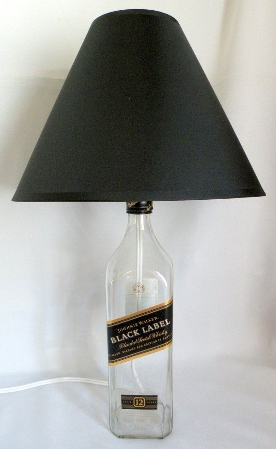 Rich and smooth...JOHNNIE WALKER Black Label Scotch Whisky Recycled Bottle Lamp 1 Liter on Etsy $25