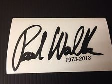 Paul Walker signature