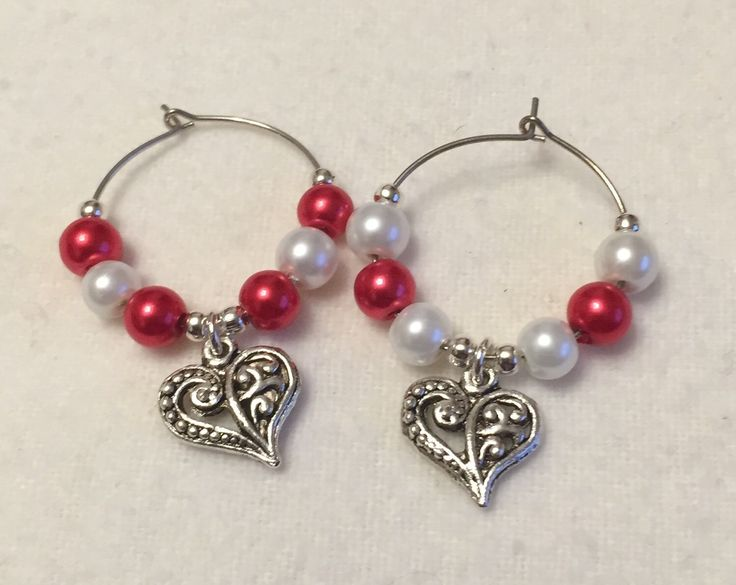 A personal favourite from my Etsy shop https://www.etsy.com/uk/listing/217233629/valentine-wine-glass-charms-valentines