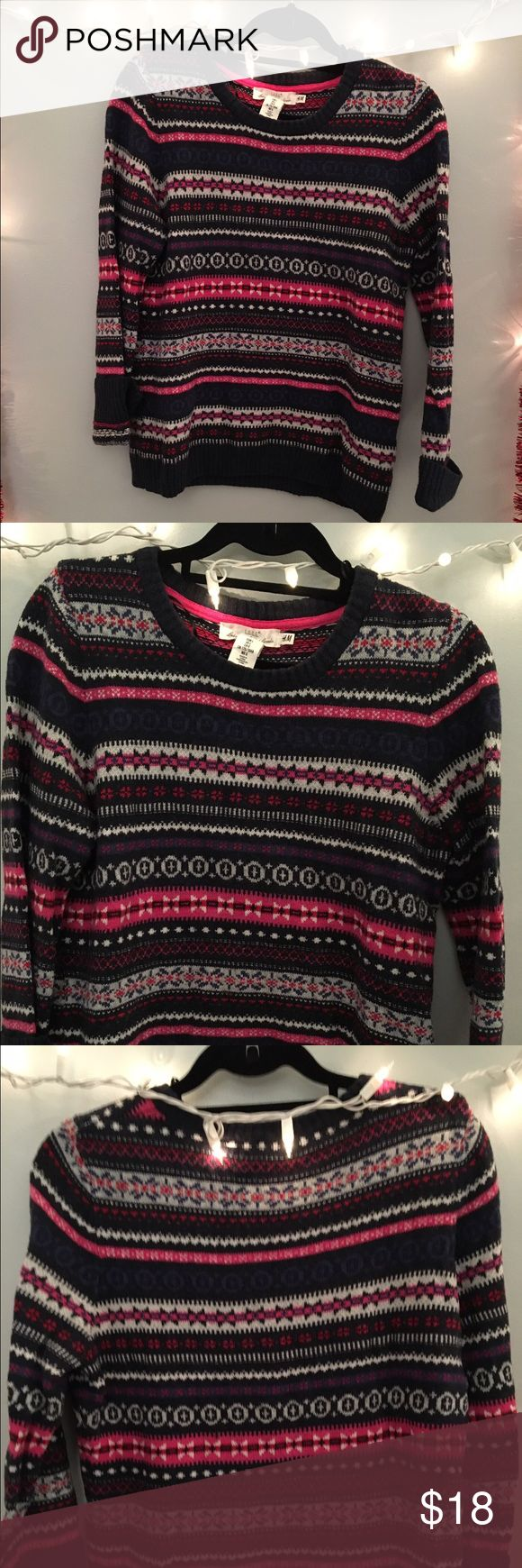 classic new england sweater channel some new england prep while sporting this bold sweater. size large from h&m it offers a perfect fall and winter collegiate look H&M Sweaters