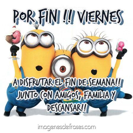 Imagenes con frases - Por fin!! Viernes, A disfrutar el fin de semana!! Junto con amigos, familia y Descansar!!