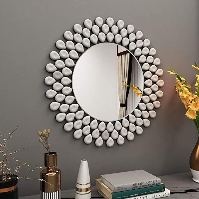 Amazon Com Modern Wall Mirror Decorative 31 5 X 31 5 Round Decor Wall Mirror Mirror Wall Decor Bedroom Wall Mirror Decor Living Room Wall Accents Decor