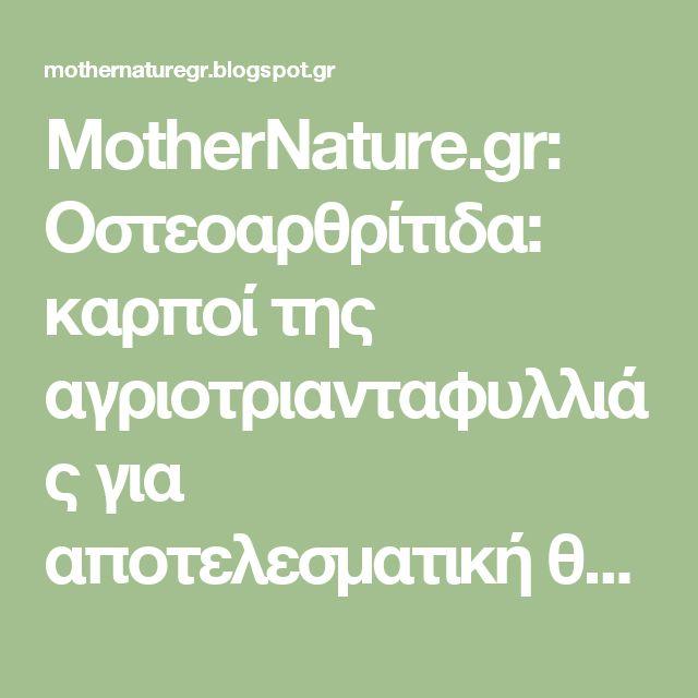 MotherNature.gr: Οστεοαρθρίτιδα: καρποί της αγριοτριανταφυλλιάς για αποτελεσματική θεραπεία
