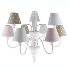 METAL/WOODEN CEILING LAMP W/9 LIGHTS IN WHITE COLOR 70X65/120