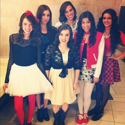 Cimorelli- the band. Alltogether. From left to right,: Dani, Christina, Amy, Katherine, Lauren, and Lisa. Believe it EP-out on itunes, go get it!