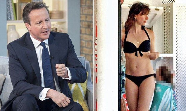 AMAZING STORIES AROUND THE WORLD: David Cameron Wife Samantha Ibiza Bikini Pictures ...
