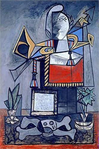 Algerian women - Pablo Picasso Completion Date: 1955 Style: Cubism, Surrealism Period: Later Years Genre: genre painting