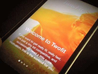 TwoFit workout app prototype