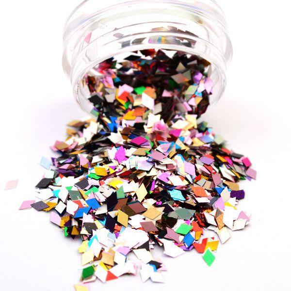 1 Box Nail Glitter 2mm*4mm Mixed Color Diamond Pattern Design Tips Decoration Nail Art Decorations 8202789