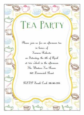 Printable Tea Party Invitations http://www.do-it-yourself-invitations.com/printable-tea-party-invitations.html